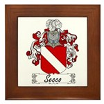 Secco Coat of Arms Framed Tile