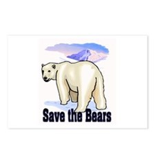 save bears Postcards (Package of 8)