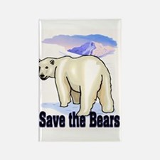 save bears Rectangle Magnet