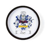 Scuri Coat of Arms Wall Clock