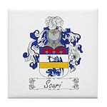 Scuri Coat of Arms Tile Coaster