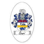 Scuri Coat of Arms Oval Sticker