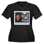 FREE Bradley Manning Women's Plus Size V-Neck Dark