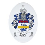 Scuri Coat of Arms Oval Ornament