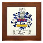 Scuri Coat of Arms Framed Tile