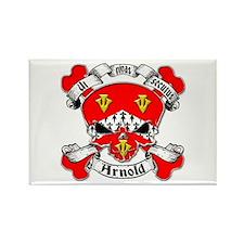 Arnold Family Crest Skull Rectangle Magnet