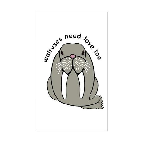 walruses need love too Sticker (Rectangle)