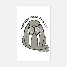 walruses need love too Sticker (Rectangle)