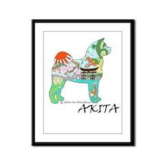 Akita National Treasure Framed Panel Print