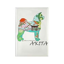 Akita National Treasure Rectangle Magnet (10 pack)