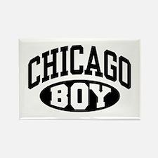 Chicago Boy Rectangle Magnet