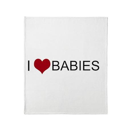 I Heart Babies Throw Blanket