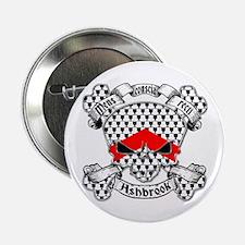 "Ashbrook Family Crest Skull 2.25"" Button"