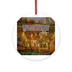 Artist Pissarro: How to Paint Ornament (Round)