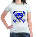 Ashby Family Crest Skull Jr. Ringer T-Shirt