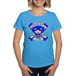 Ashby Family Crest Skull Women's Dark T-Shirt