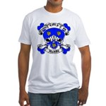 Ashby Family Crest Skull Fitted T-Shirt