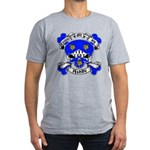 Ashby Family Crest Skull Men's Fitted T-Shirt (dar