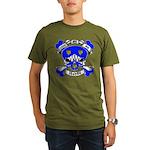 Ashby Family Crest Skull Organic Men's T-Shirt (da