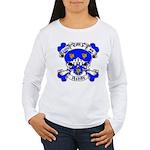 Ashby Family Crest Skull Women's Long Sleeve T-Shi