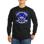 Ashby Family Crest Skull Long Sleeve Dark T-Shirt