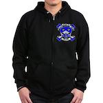 Ashby Family Crest Skull Zip Hoodie (dark)