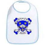 Ashby Family Crest Skull Bib