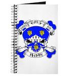 Ashby Family Crest Skull Journal