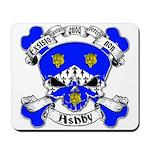Ashby Family Crest Skull Mousepad