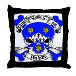 Ashby Family Crest Skull Throw Pillow
