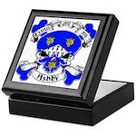 Ashby Family Crest Skull Keepsake Box