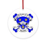 Ashby Family Crest Skull Ornament (Round)
