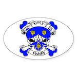 Ashby Family Crest Skull Sticker (Oval)