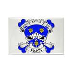 Ashby Family Crest Skull Rectangle Magnet