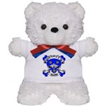 Ashby Family Crest Skull Teddy Bear