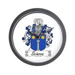 Sciacca Family Crest  Wall Clock