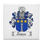 Sciacca Family Crest  Tile Coaster