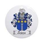 Sciacca Family Crest  Ornament (Round)