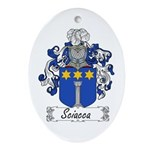 Sciacca Family Crest  Oval Ornament