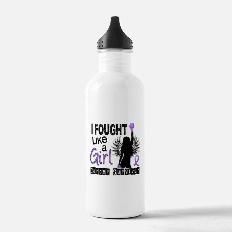 Fought Like A Girl Hodgkin's Lymphoma Water Bottle