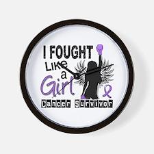 Fought Like A Girl Hodgkin's Lymphoma Wall Clock