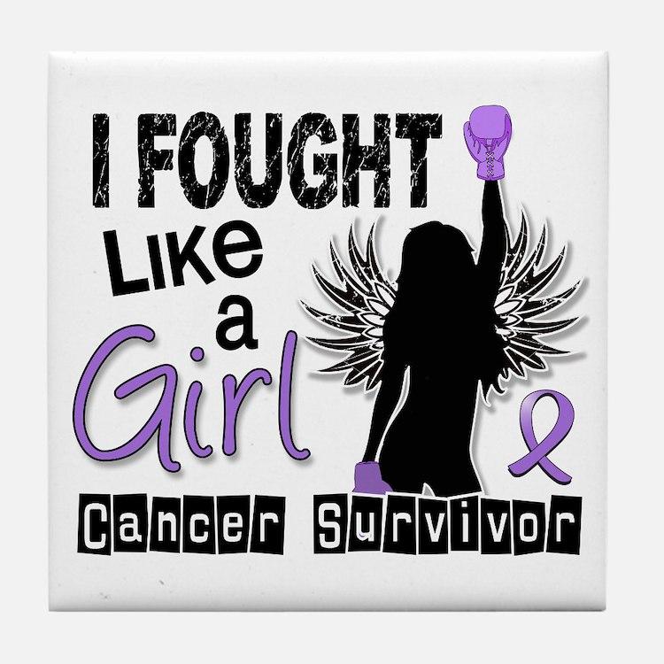 Fought Like A Girl Hodgkin's Lymphoma Tile Coaster