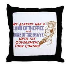 Land Of The Free Throw Pillow