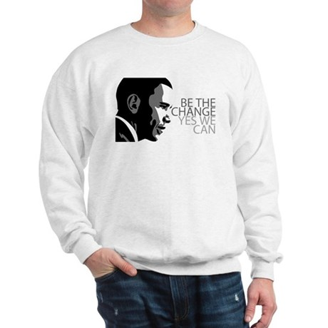 Obama - Change - Yes We Can - Grey Sweatshirt