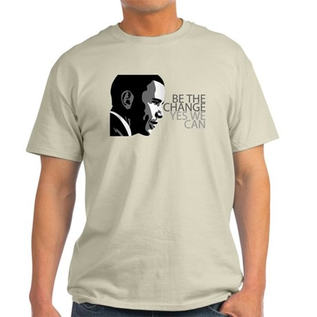 Obama - Change - Yes We Can - Grey Light T-Shirt