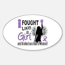 Fought Like A Girl Hodgkin's Lymphoma Decal