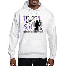 Fought Like A Girl Hodgkin's Lymphoma Hoodie