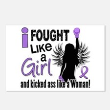 Fought Like A Girl Hodgkin's Lymphoma Postcards (P