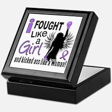 Fought Like A Girl Hodgkin's Lymphoma Keepsake Box