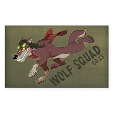 Wolf Squad Co. 23 Rectangle Bumper Stickers